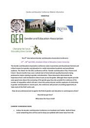 Gender And Education Conference Website Information - Graduate ...