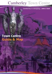 Town Centre Guide & Map - Camberley Town Centre