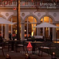 Meetings & Events - Villa Kennedy