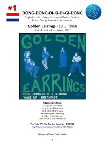 golden earring 50 jaar Earring Magazines golden earring 50 jaar