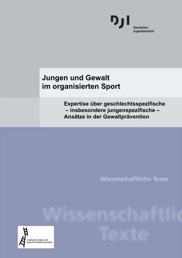 Jungen und Gewalt im organisierten Sport - Deutsches ...