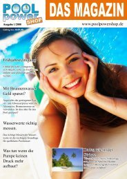 Poolpowershop Das Magazin 1 / 2008