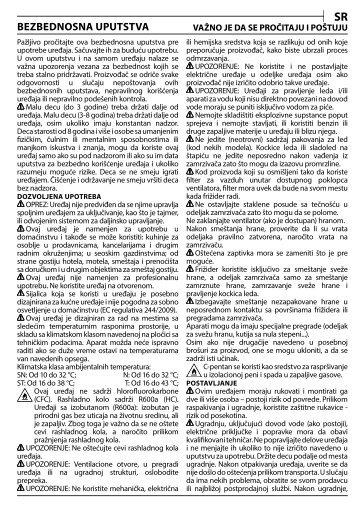 KitchenAid B 20 A1 DV E/HA - B 20 A1 DV E/HA SR (F093794) Consignes de sécurité