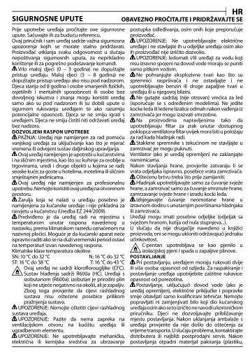KitchenAid UC 81 - UC 81 HR (850385515000) Consignes de sécurité