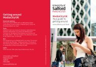 Your guide to getting around (pdf) - University of Salford