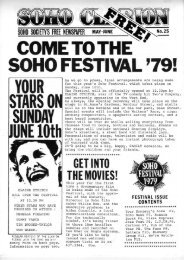 COME TO THE ' - The Soho Society