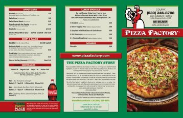 The Pizza FacTory STory - Colfax - Pizza Factory