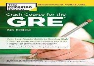 [+][PDF] TOP TREND Crash Course for the GRE (Graduate Test Preparation)  [DOWNLOAD]