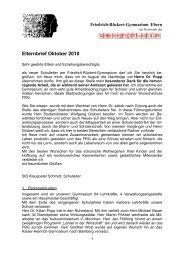 Elternbrief Oktober 2010 - Friedrich-Rückert-Gymnasium Ebern