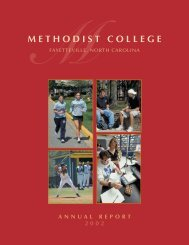 ANNUAL REPORT COVER (outside) - Methodist University