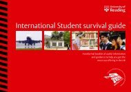 International Student survival guide - University of Reading