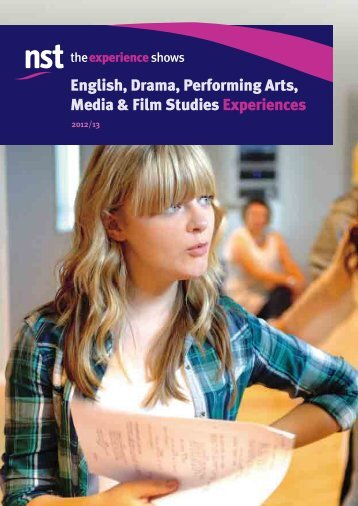 English, Drama, Performing Arts, Media & Film Studies ... - NST