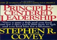 [+]The best book of the month Principle Centered Leadership  [DOWNLOAD]