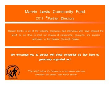 Eagle Golf Cars, LLC - Marvin Lewis Community Fund