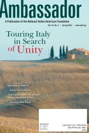 Volume 23, No 3 - National Italian American Foundation