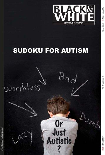 SUDOKU FOR AUTISM - Black & White