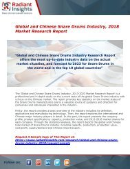 Snare Drums Industry : Share, Market Size, Growth, Demand, Analysis And Forecast Report 2018