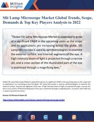 Slit Lamp Microscope Market Global Trends, Scope, Demands & Top Key Players Analysis to 2022