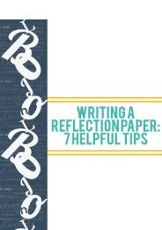 Writing a Reflection Paper: 7 Helpful Tips