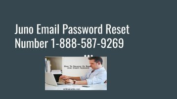 Juno Email Password Reset Number 1-888-587-9269 | Recovery Not Working
