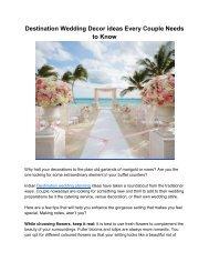Destination Wedding Decor ideas - Behind the Scene