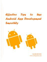 Effective Tips to Use Android App Development Smoothly