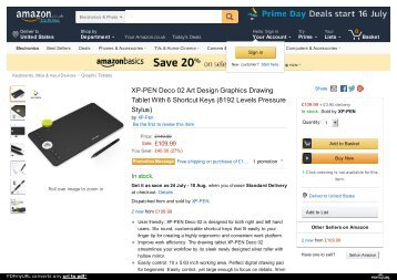 XP-PEN Deco 02 Art Design Graphics Drawing Tablet With 6 Shortcut Keys
