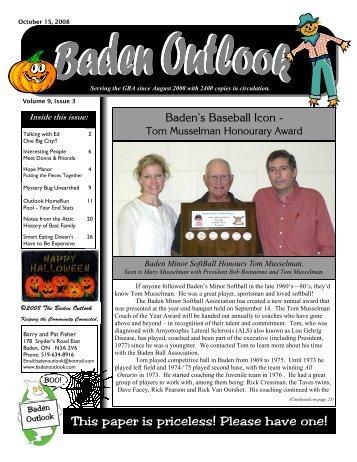 Baden's Baseball Icon - The Baden Outlook