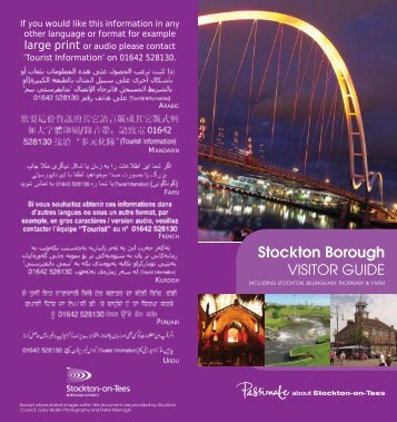 Stockton Borough Visitor Guide - Stockton International Riverside ...