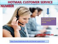 Hotmail Contact Number 1-800-383-368 Australia-For Troubleshooting Steps