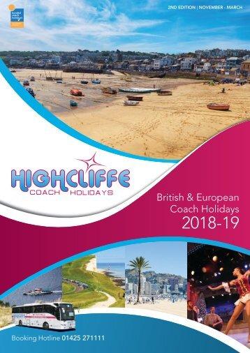 Highcliffe Coach Holidays Brochure 2018-2019
