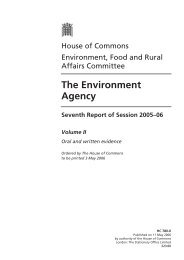 The Environment Agency Seventh Report of Session 2005–06 ...