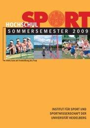 sommersemester 2009 hochschul - Hochschulsport - Uni.hd.de
