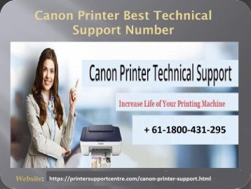 Canon printer support number + 61-1800-431-295