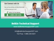 Belkin Tech Support 1-888-239-5201