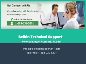 Belkin Tech Support 1-888-239-5201