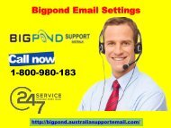 Quick Solution | Bigpond Email Settings 1-800-980-183