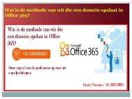 Wat is de methode van wit die een domein opslaat in Office 365