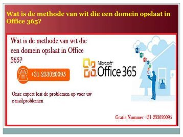 Wat is de methode van wit die een domein opslaat in Office 365