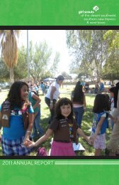 2011 ANNUAL REPORT - Girl Scouting builds girls of courage ...