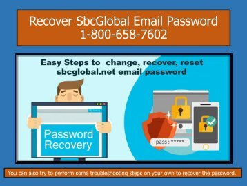 Sbcglobal Email Not Working 1-800-658-7602