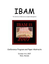 Conference Program and Paper Abstracts - Ibam.com