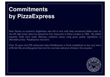 Commitments By PizzaExpress