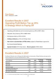 Excellent Results in 2007 Operating Profit Before Tax up 25% A ...
