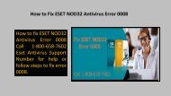 Steps to Fix ESET NOD32 Antivirus Error 0008 Call 1-800-658-7602
