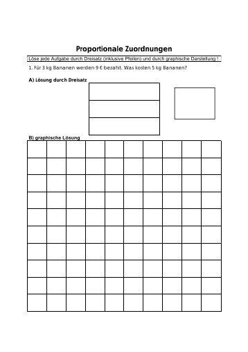 Proportionale Zuordnungen mit Dreisatz und Graphen
