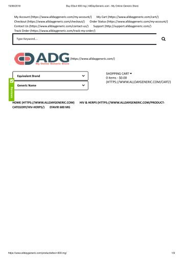 Buy Efavir 600 mg _ AllDayGeneric.com - My Online Generic Store