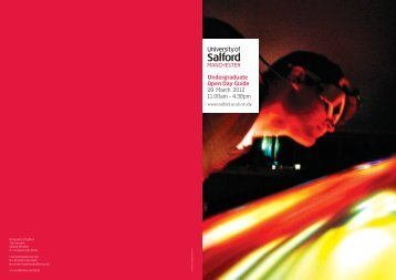 Undergraduate Open Day Guide - University of Salford