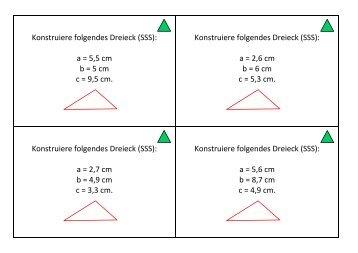 Dreieckskonstruktionen