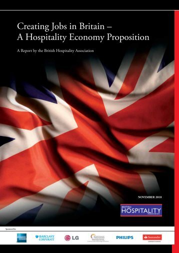 Creating Jobs in Britain – A Hospitality Economy Proposition - British ...